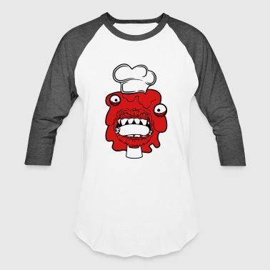 sausage cook eat chef apron hunger delicious dange - Baseball T-Shirt