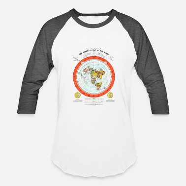 Prominent Flat Earth Map - Baseball T-Shirt
