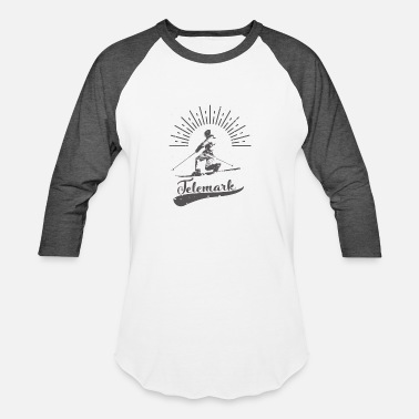 Free Your Heel Telemark: Free your heel and your mind will follow - Baseball T-Shirt