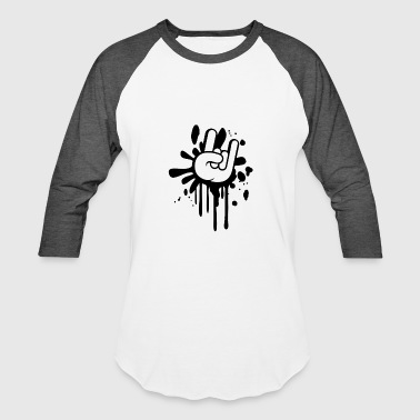 Metal Hand Finger - Baseball T-Shirt