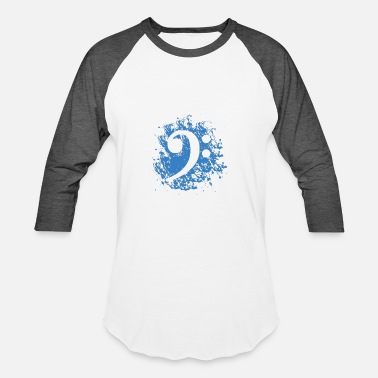 Bass Clef Bass Clef in Blue - Baseball T-Shirt