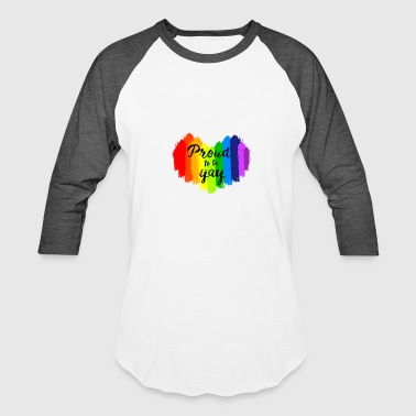 Gay Paint Proud to be Gay LGBT Painting Heart - Baseball T-Shirt