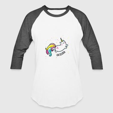 Cartoon Unicorn Cool Unicorn CATiCORN like Unicorn - Baseball T-Shirt