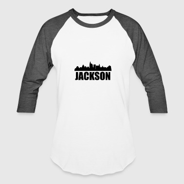 Jackson MS Skyline - Baseball T-Shirt