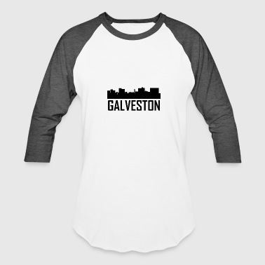 Galveston Texas City Skyline - Baseball T-Shirt