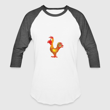 Cartoon Rooster Cartoon Rooster - Baseball T-Shirt