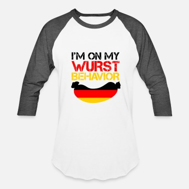 Wurst Wurst Behavior - Oktoberfest German Funny - Baseball T-Shirt