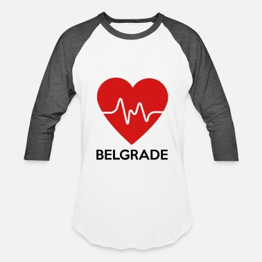 Belgrade Heart Belgrade - Baseball T-Shirt