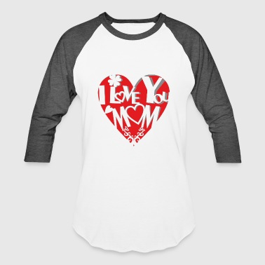 Sweet cut out heart - motherly love - Baseball T-Shirt