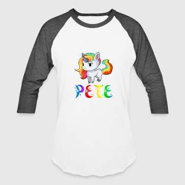 Pete Unicorn - Baseball T-Shirt