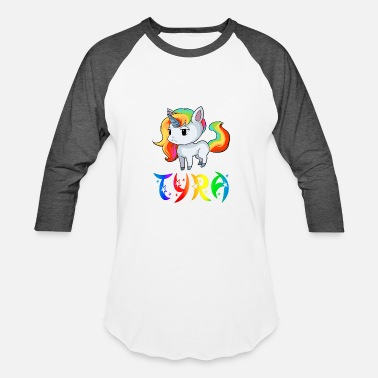Tyra Tyra Unicorn - Baseball T-Shirt