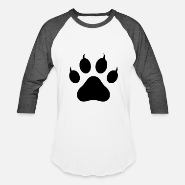Pawprint Cat Pawprint - Unisex Baseball T-Shirt