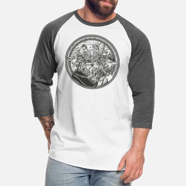 Norman Odin and his ravens - Unisex Baseball T-Shirt