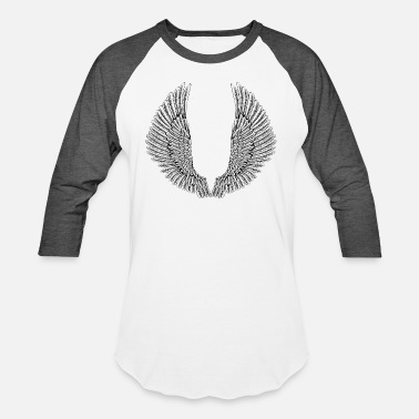 Angel Wings angelic-wings-vector - Unisex Baseball T-Shirt