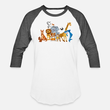 Zoo Animal animal-zoo-wildlife-bird-fish - Unisex Baseball T-Shirt
