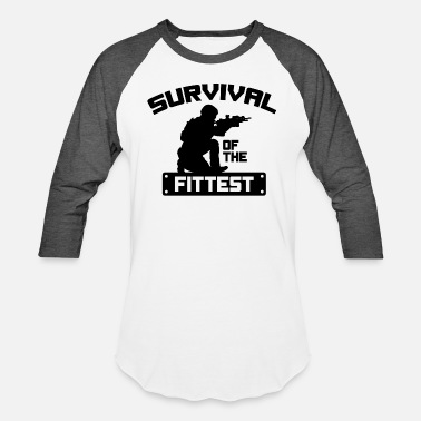 This Badass Survived Survival Of The Fittest - Unisex Baseball T-Shirt