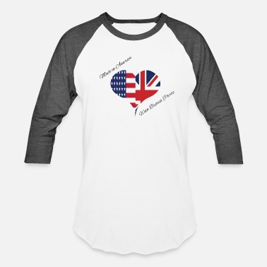 British Heritage Made in America with British Parts - Unisex Baseball T-Shirt