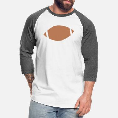 Inflated Oval Football - Unisex Baseball T-Shirt