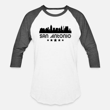 Antonio Retro San Antonio Skyline - Baseball T-Shirt