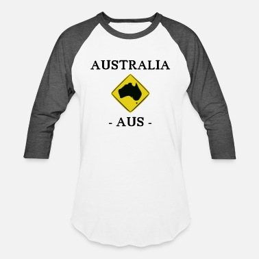 Road Sign Australia Australia - kangaroo - AUS - Sydney - Road Sign - Unisex Baseball T-Shirt