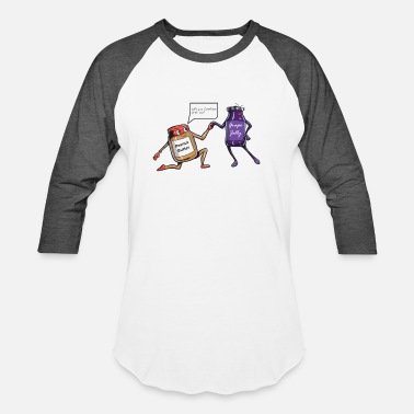 Peanut Butter and Jelly - Unisex Baseball T-Shirt