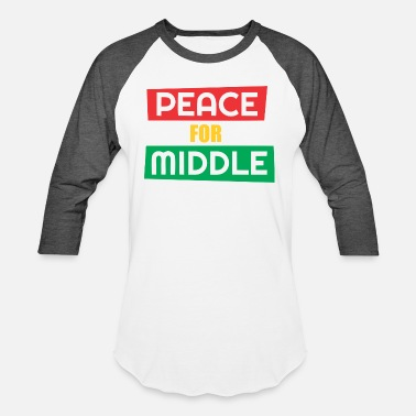 Middle Of The Week Peace For Middle - Baseball T-Shirt