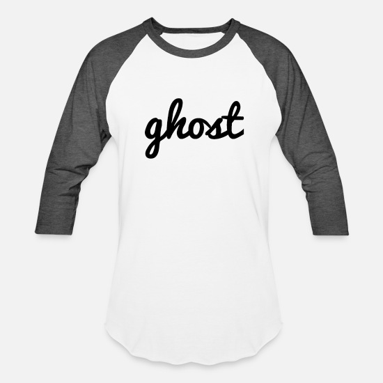 Ghost T-Shirts - ghost - Unisex Baseball T-Shirt white/charcoal