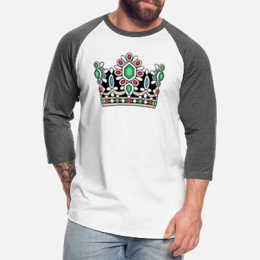 Persian History Crown Royal Majesty Queen Royalty Coronation King - Unisex Baseball T-Shirt