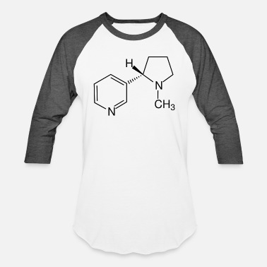 Structural Formula Nicotine structural formula - Unisex Baseball T-Shirt