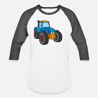 Tractor For Blue Tractor - Unisex Baseball T-Shirt