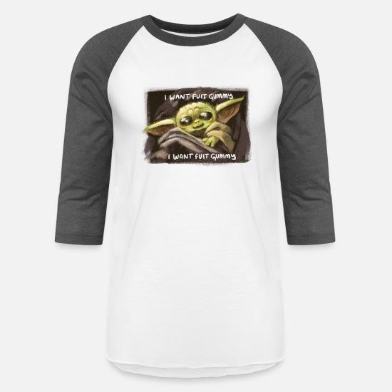 I Want Fuit Gummy Baby Yoda Unisex Baseball T Shirt Spreadshirt Evanescence — «bring me to life». i want fuit gummy baby yoda unisex