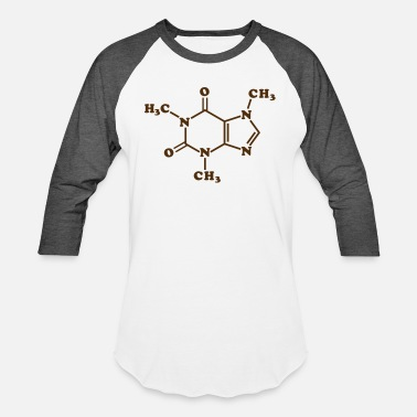 Compound Caffeine Molecular Chemical Formula - Unisex Baseball T-Shirt