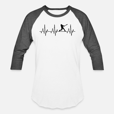 Gaming Heartbeat Baseball Softball Player Game - Baseball T-Shirt