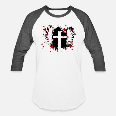 Winged Cross Cross with wings - Baseball T-Shirt