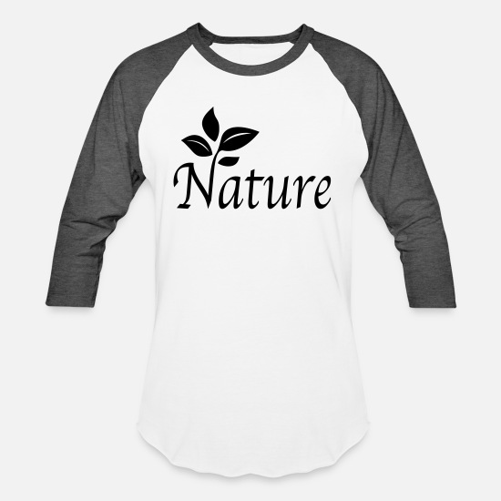 Lover T-Shirts - Nature - Unisex Baseball T-Shirt white/charcoal