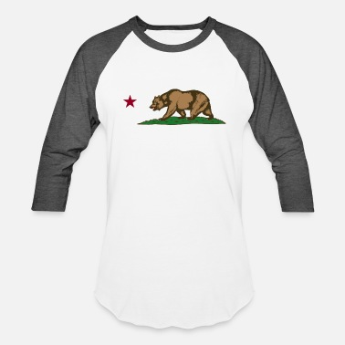 California california bear flag - Unisex Baseball T-Shirt