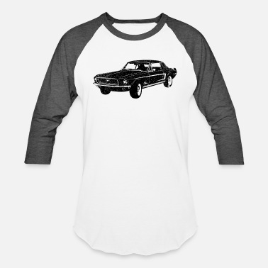 1968 1968 Ford Mustang Coupe - Unisex Baseball T-Shirt