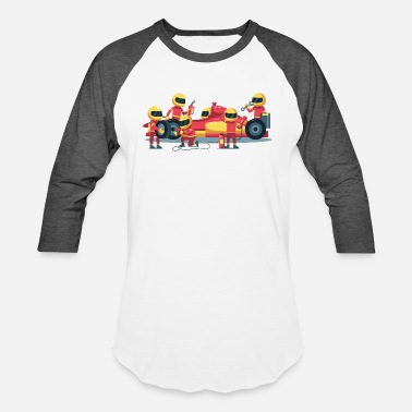 Pit Stop pit stop workers - Unisex Baseball T-Shirt