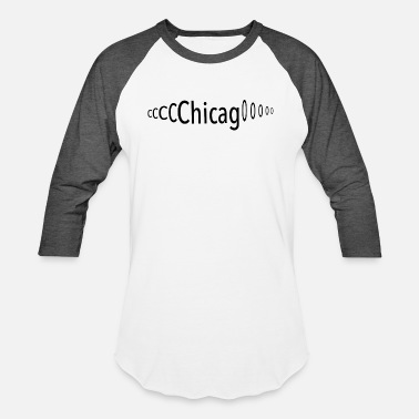 Chicago Words Windy Chicago - Unisex Baseball T-Shirt