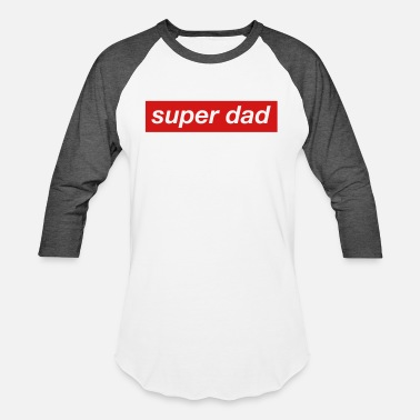13a96947 super dad daddy best father fathersday cool hero - Unisex Baseball T-Shirt