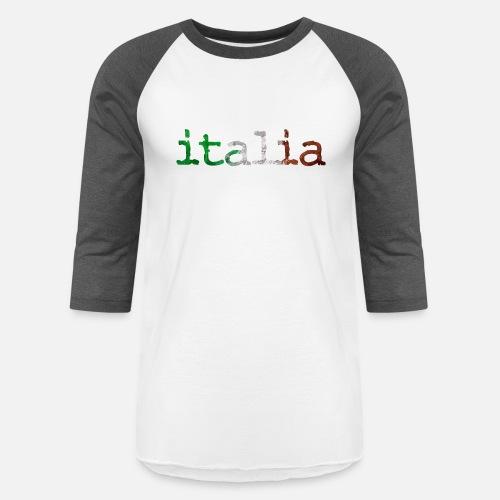 italia - Italy - italian - Pizza - Pasta - flag - Unisex Baseball T-. Front 50feb5538