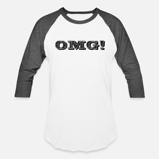 Birthday T-Shirts - OMG - Unisex Baseball T-Shirt white/charcoal