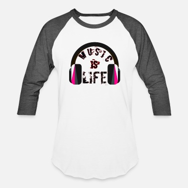 Techno Producer music is life t-shirts , music fans - Baseball T-Shirt