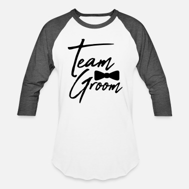 Groom fly text men team groom man gentleman sir empire s - Baseball T-Shirt