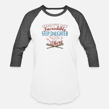 Step Softball Step Daughter Mom Dad Gift - Baseball T-Shirt