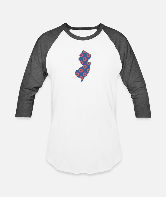 Maternity T-Shirts - Phish Fishman Donut New Jersey Phanart - Unisex Baseball T-Shirt white/charcoal