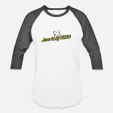 Jesus Hero Jesus is my HERO - Baseball T-Shirt