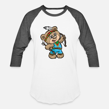 Indian Bear CUTE INDIAN BEAR Bow and Arrow Native American - Unisex Baseball T-Shirt