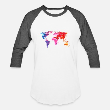Color Colorful World - Unisex Baseball T-Shirt
