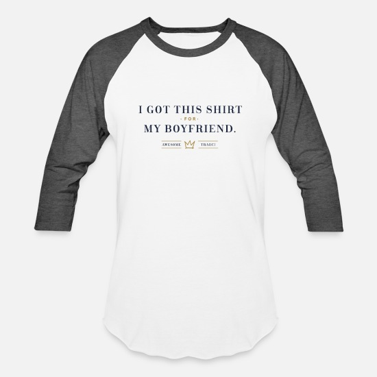 Awesome T-Shirts - I got this shirt for my boyfriend. Awesome trade! - Unisex Baseball T-Shirt white/charcoal